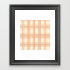 LINES in APRICOT Framed Art Print