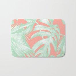 Island Love Coral Pink + Light Green Bath Mat