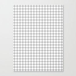 White and Gray Diamonds Canvas Print