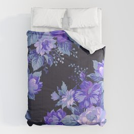 Midnight Floral Comforters