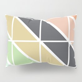 Retro Geometric Triangle Pattern Pillow Sham