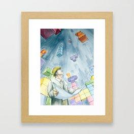 Architetris Framed Art Print