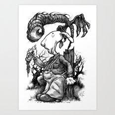 Stump Surprise Art Print