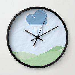 Hills and Rain Wall Clock