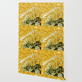 GOLDEN LACE FLOWERS FROM SOCIETY6 BY SHARLESART. Wallpaper
