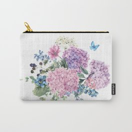 Summer Vintage Hydrangea Carry-All Pouch