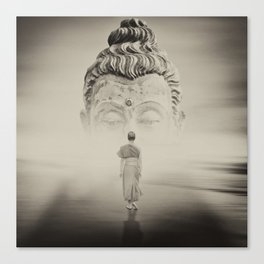 Walk To Buddhism Canvas Print