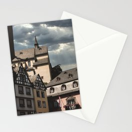 Medieval village of Cochem | Pastel colors in Germany, Europe - Travel photography Stationery Cards