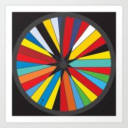Pop Bike Wheel Art Print