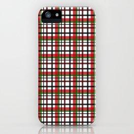 Christmas Plaid iPhone Case