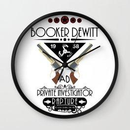 Booker DeWitt Investigator v3 Wall Clock