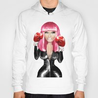 nicki Hoodies featuring Nicki M. Boxing realistic caricature by Danna Victoria