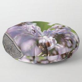 Common Purple Lilac Floor Pillow