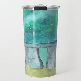 Stonehenge Galaxy watercolor Travel Mug