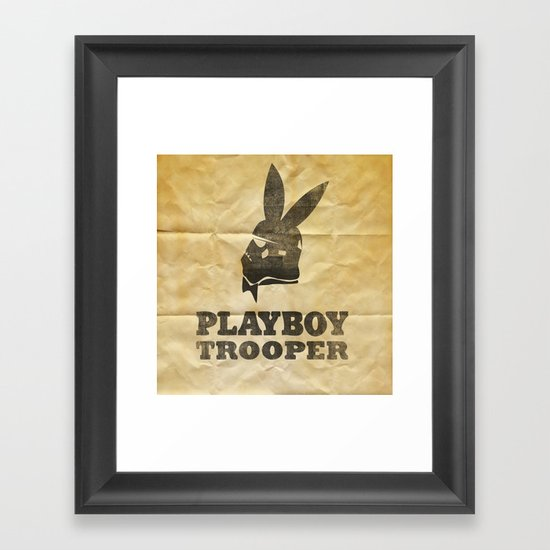 playboy trooper  Framed Art Print