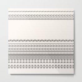 European Traditional Pattern Metal Print