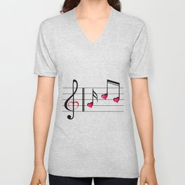Music love concept Unisex V-Neck