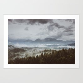 Misty mountains - Landscape and Nature Photography Art Print