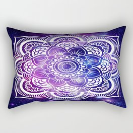 Mandala purple blue galaxy space Rectangular Pillow