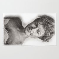 laura palmer Area & Throw Rugs featuring TWIN PEAKS - LAURA PALMER by William Wong