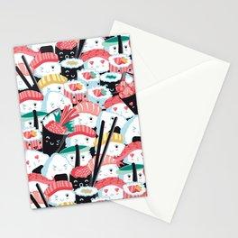 Kawaii Sushi Crowd Stationery Cards