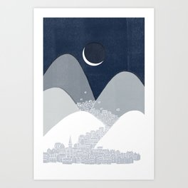 Bleak Midwinter Art Print