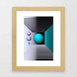 3D-geometry -4- Framed Art Print