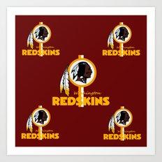 Redskins BEST logo  Art Print
