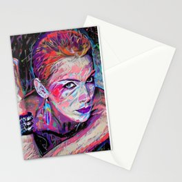 Annie Lennox #1 by Kulture Bang Stationery Cards