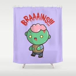 Zombie Kawaii | BRAAAINS!!!! BRAINS!! Halloween Shower Curtain