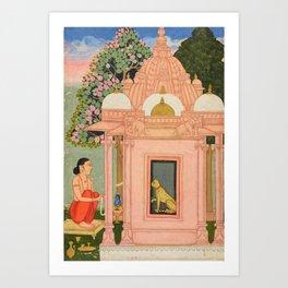 Bangali Ragini - 17th Century Classical Indian Art Art Print