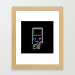 Retro Gamer Framed Art Print