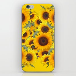 DECORATIVE WESTERN YELLOW SUNFLOWERS FIELDS iPhone Skin