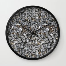 pebbles on the beach Wall Clock