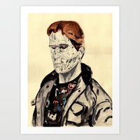 terminator Art Prints featuring Terminator by withapencilinhand