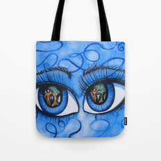 Lucifer Eyes Tote Bag