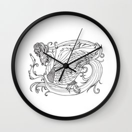 Simurgh from the Bestiary Coloring Book Wall Clock