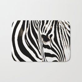 Zebra-Black and White Bath Mat