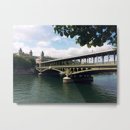 Paris Bridge Metal Print