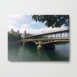 Paris Bridge Metal Print