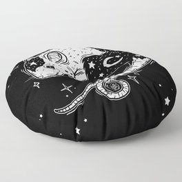 the Witch's Companion Floor Pillow