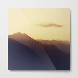 Layered Swiss Alps Metal Print