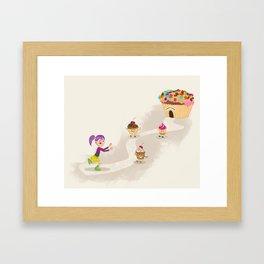 Cupcake Maniac Framed Art Print