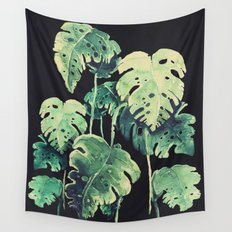 tropical in the dark Wall Tapestry