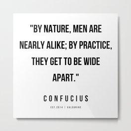 38  | Confucius Quotes | 200202 Metal Print