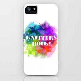 Knitters Rock! iPhone Case
