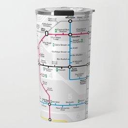 Kuwait City Metro Map Travel Mug