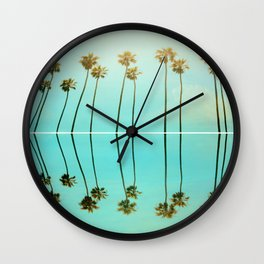 Palm Reflections Wall Clock