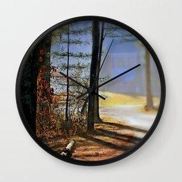 Misty Corner Wall Clock