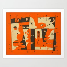 Chit Chat Art Print